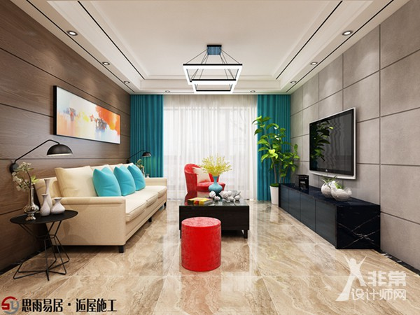 《简约格调》扬州中信泰富嘉境115平方米3居室现代简约装修设计案例