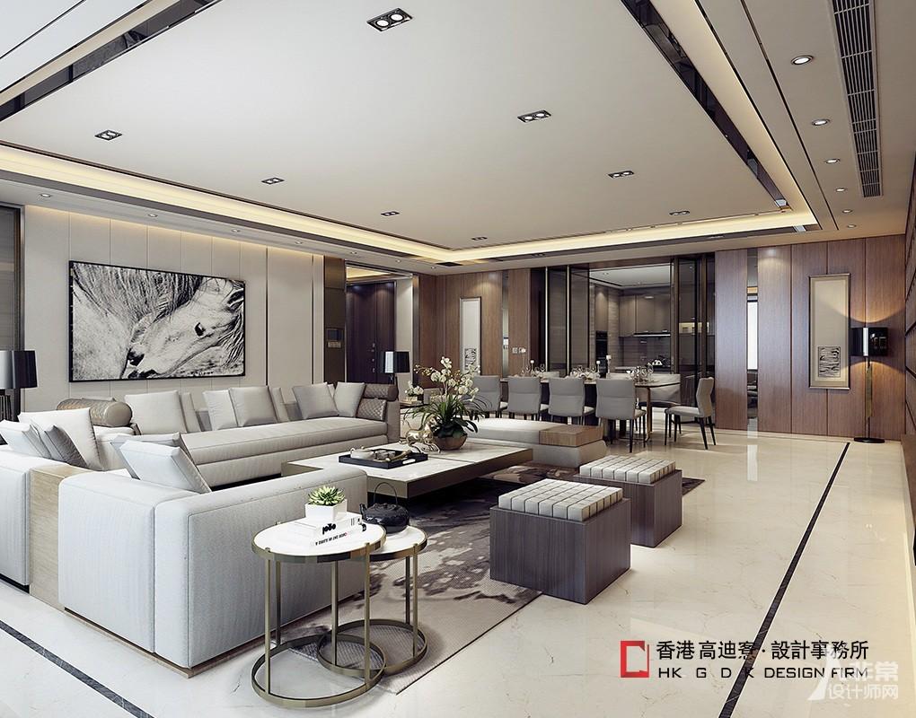 望京绿地中心样板间设计 --- 香港高迪愙设计事务所(北京)