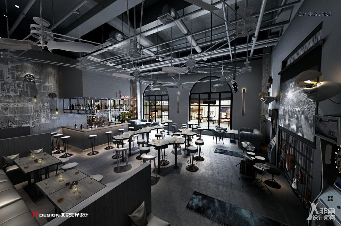 艺术咖啡餐厅设计,山东红树林度假世界H·Lounge酒吧