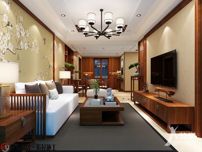 《古韵风雅》扬州130平方米新中式风格3居室装修设计案例