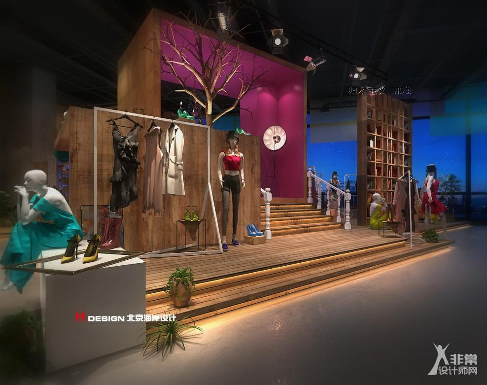 服装店设计,重庆靓影Showroom服装店设计方案