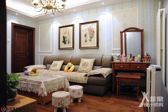 《雅舍》北京70平米2居室美式风格实景案例思雨易居装修设计