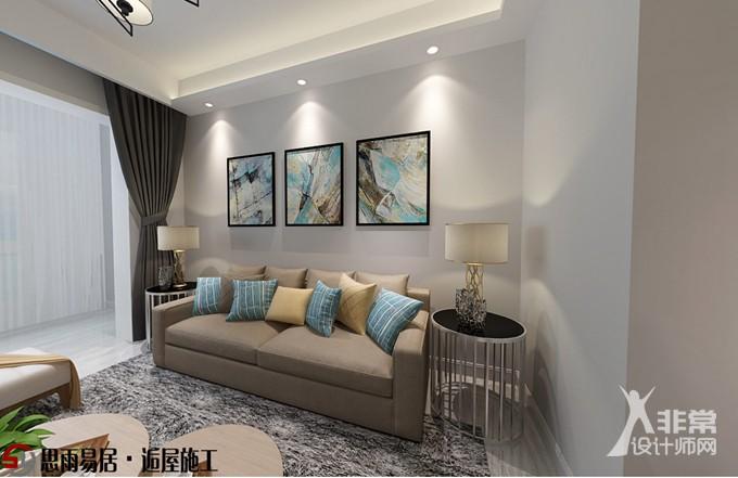 《慢漫生活》扬州运河晶典89平方米3居室现代风格装修设计案例
