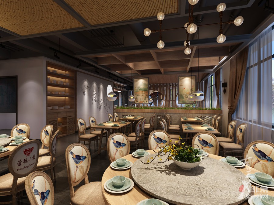 成都中餐厅装修|成都中餐厅设计|成都餐厅装修公司《荣城小馆》
