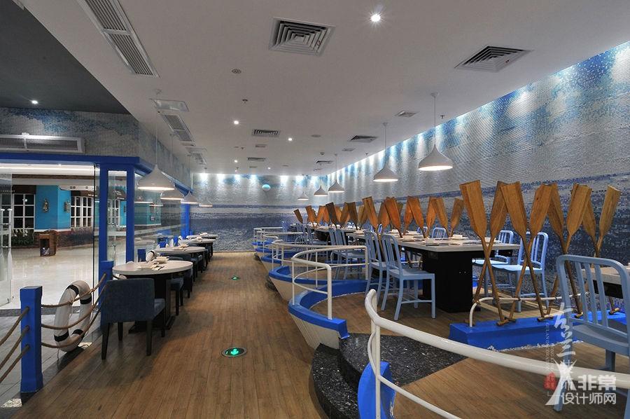 《蓝海一家自助餐厅》成都自助餐厅装修设计|成都自助海鲜餐厅装修设计|成都餐厅设计公司