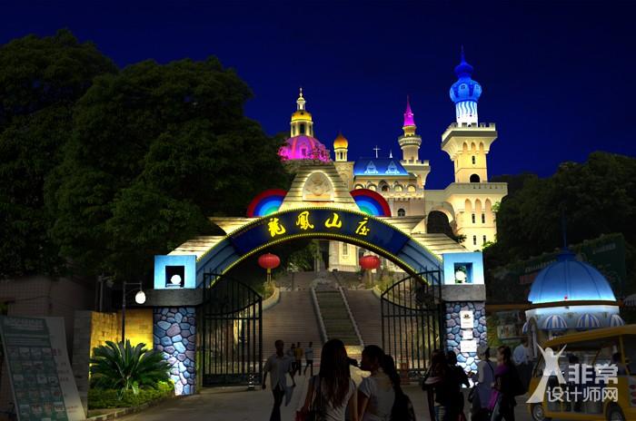 旅游景区夜景照明规划 ——每一个角落都充满灯光,更好的沉浸在光环境中