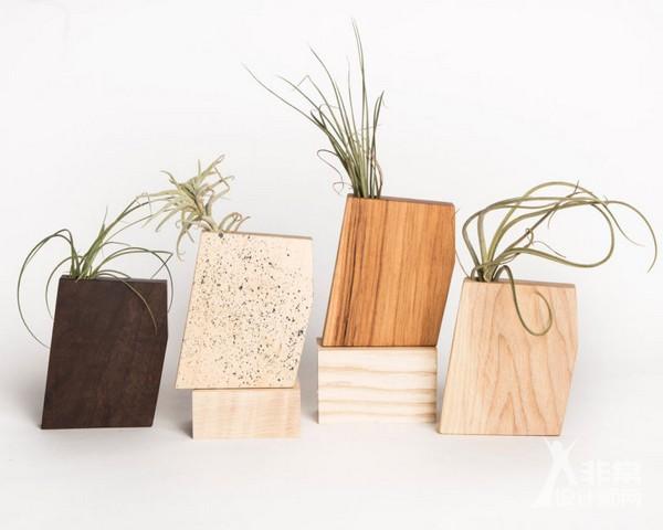 可持续设计,废旧木材制作花盆