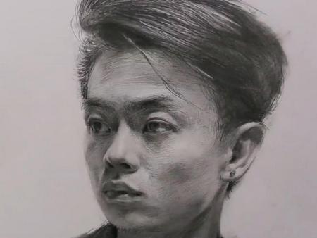 艺考学堂——人物半身像素描技法
