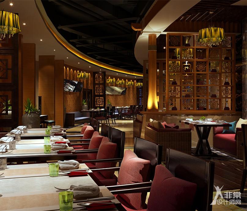 《海鲜自助餐厅》成都专业特色餐厅装修设计|成都餐厅装修设计公司