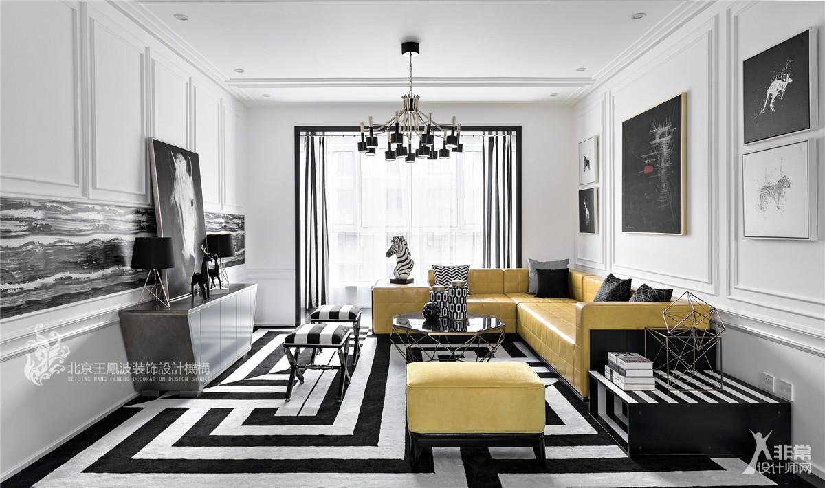 现代简约风格家装设计,黑白色系下的精彩空间