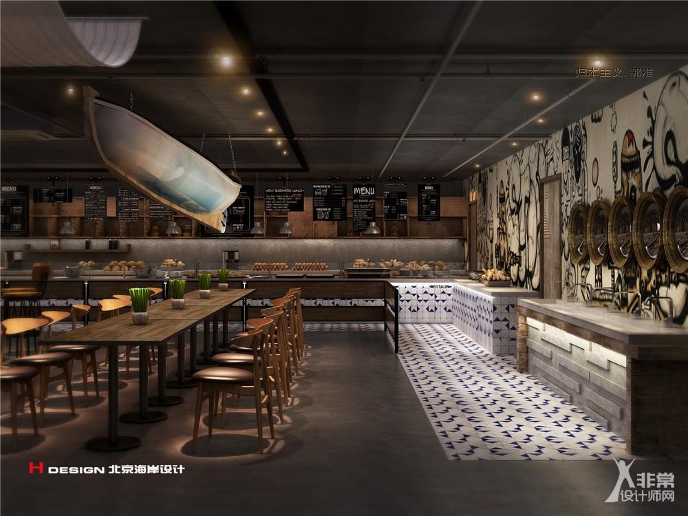 鲅鱼圈酒店员工餐厅设计案例
