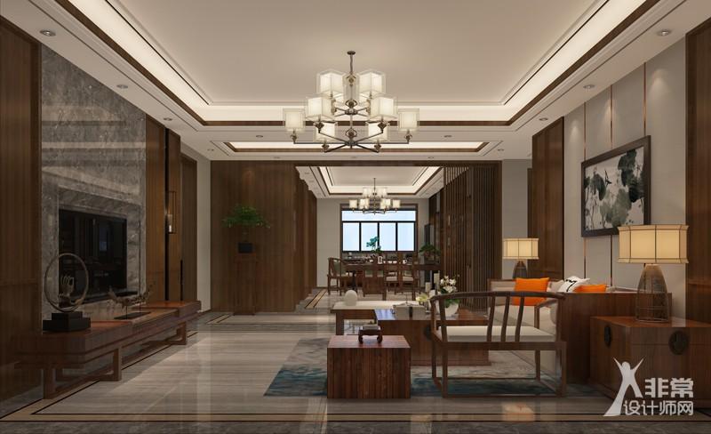 新中式平层室内设计