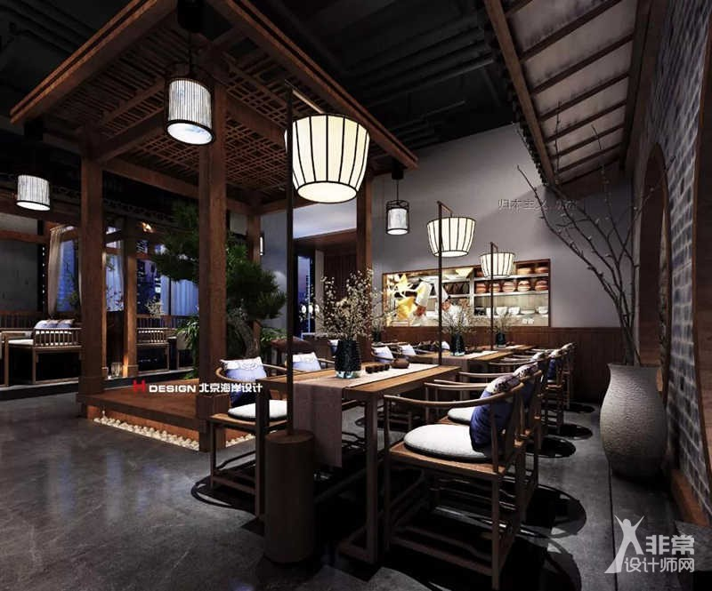 贵阳墨府音乐古风餐厅v音乐-非常设计师网最新版建筑设计防头规范是那年的图片