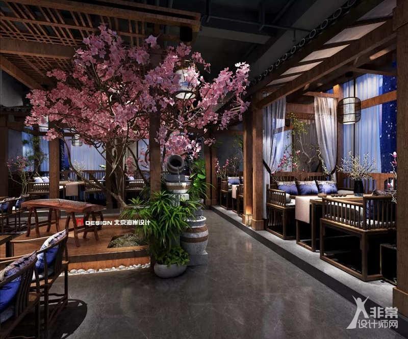 贵阳墨府餐厅古风音乐v餐厅-非常设计师网无维网creo3.0模具设计图片