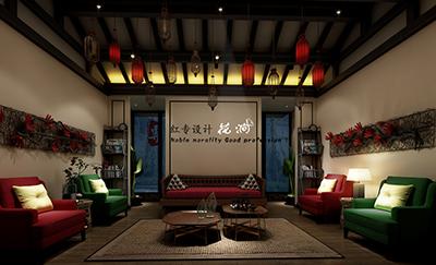 四川星级酒店设计—红专设计 营山县花涧主题酒店