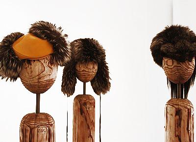 设计周-哥本哈根皮草设计艺术展 皮草与木头